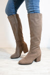 Be My Girl - Taupe Almond Toe Chunky Heeled Boots