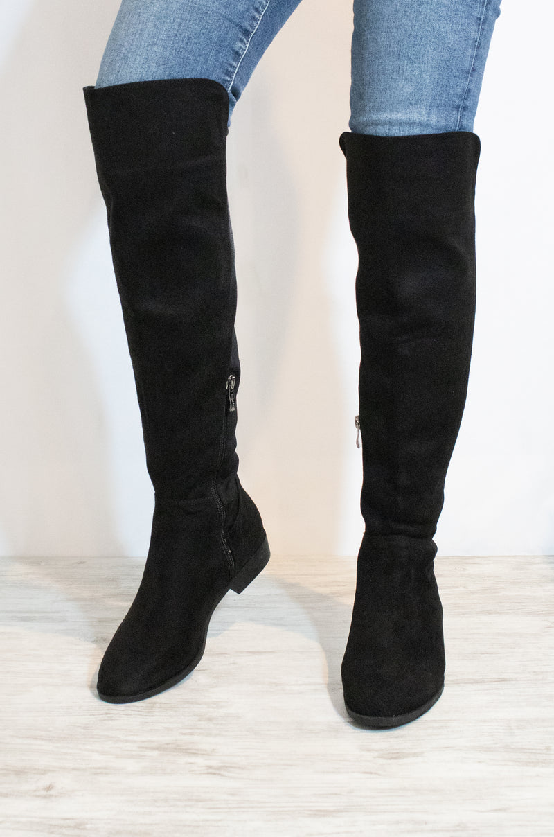 Better Off - Black Over The Knee Boots