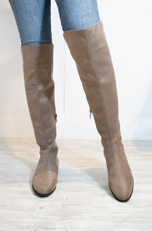 Better Off - Taupe Over The Knee Boots