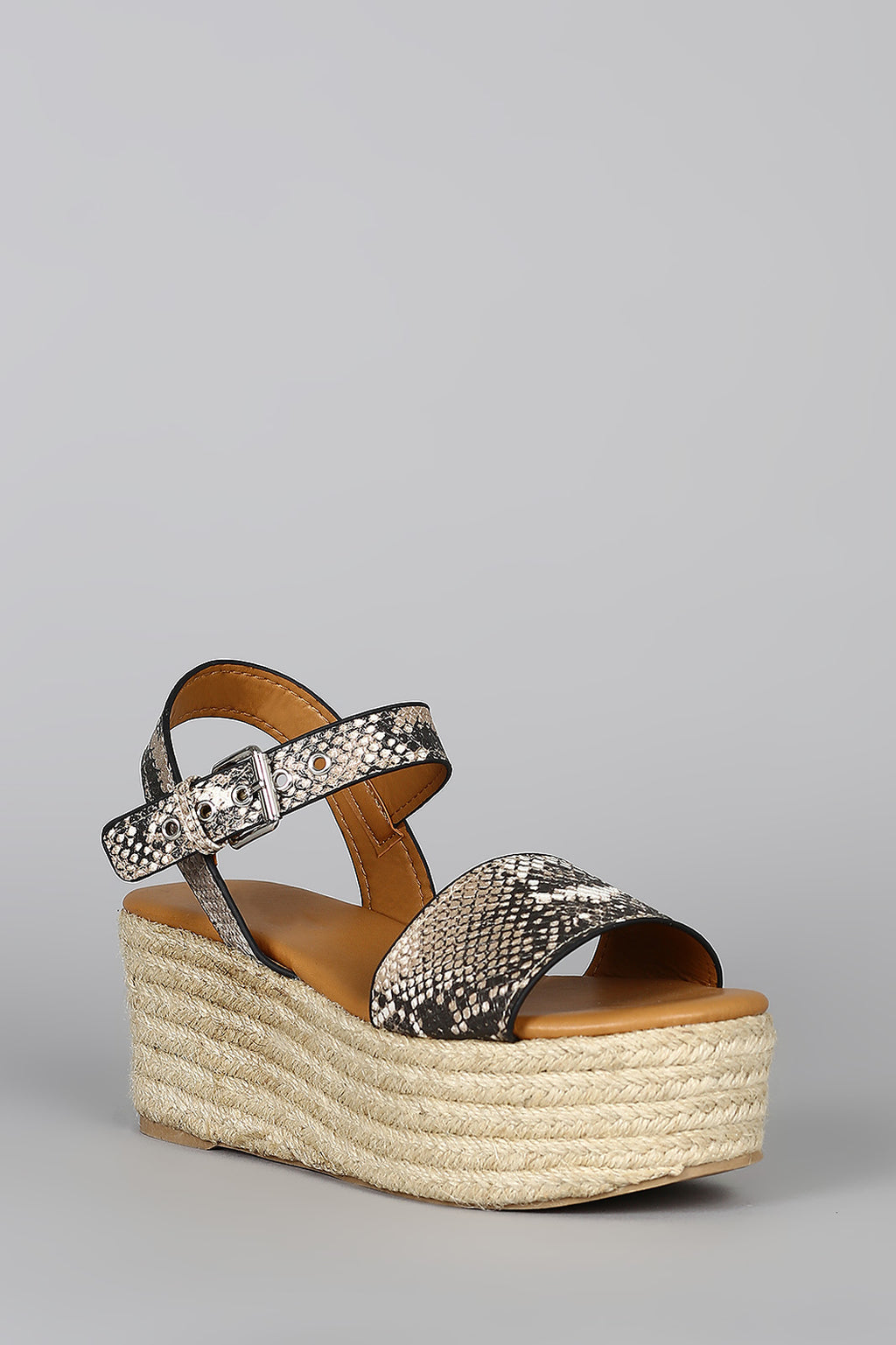 Boardwalk - Snake Flatform Espadrille Sandals