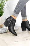 Bold Moves - Black Side Zipper Booties