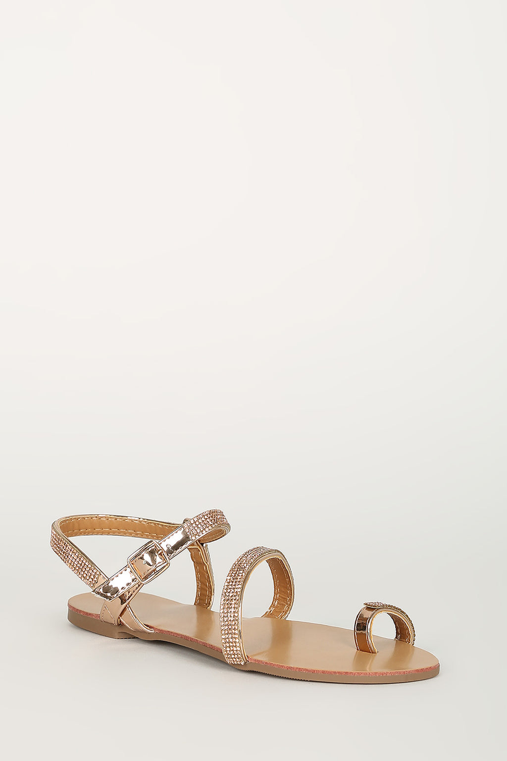 Bombshell - Rose Gold Embellished Sandals