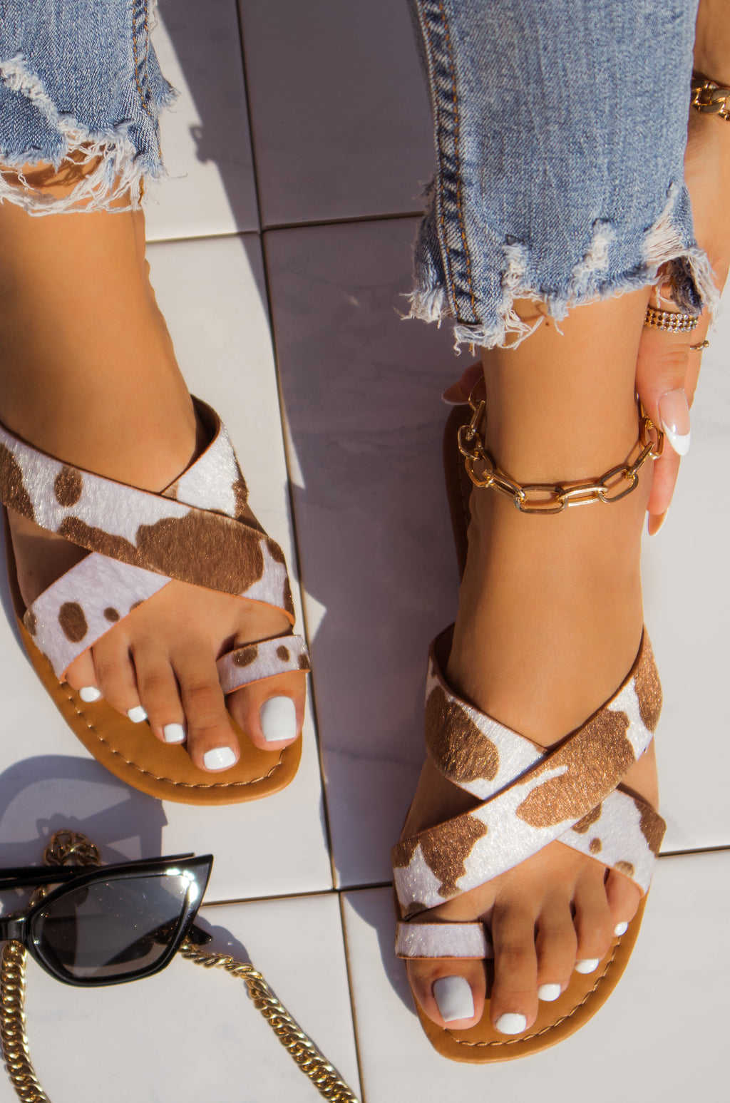 Carolina - Tan Cow Sandals