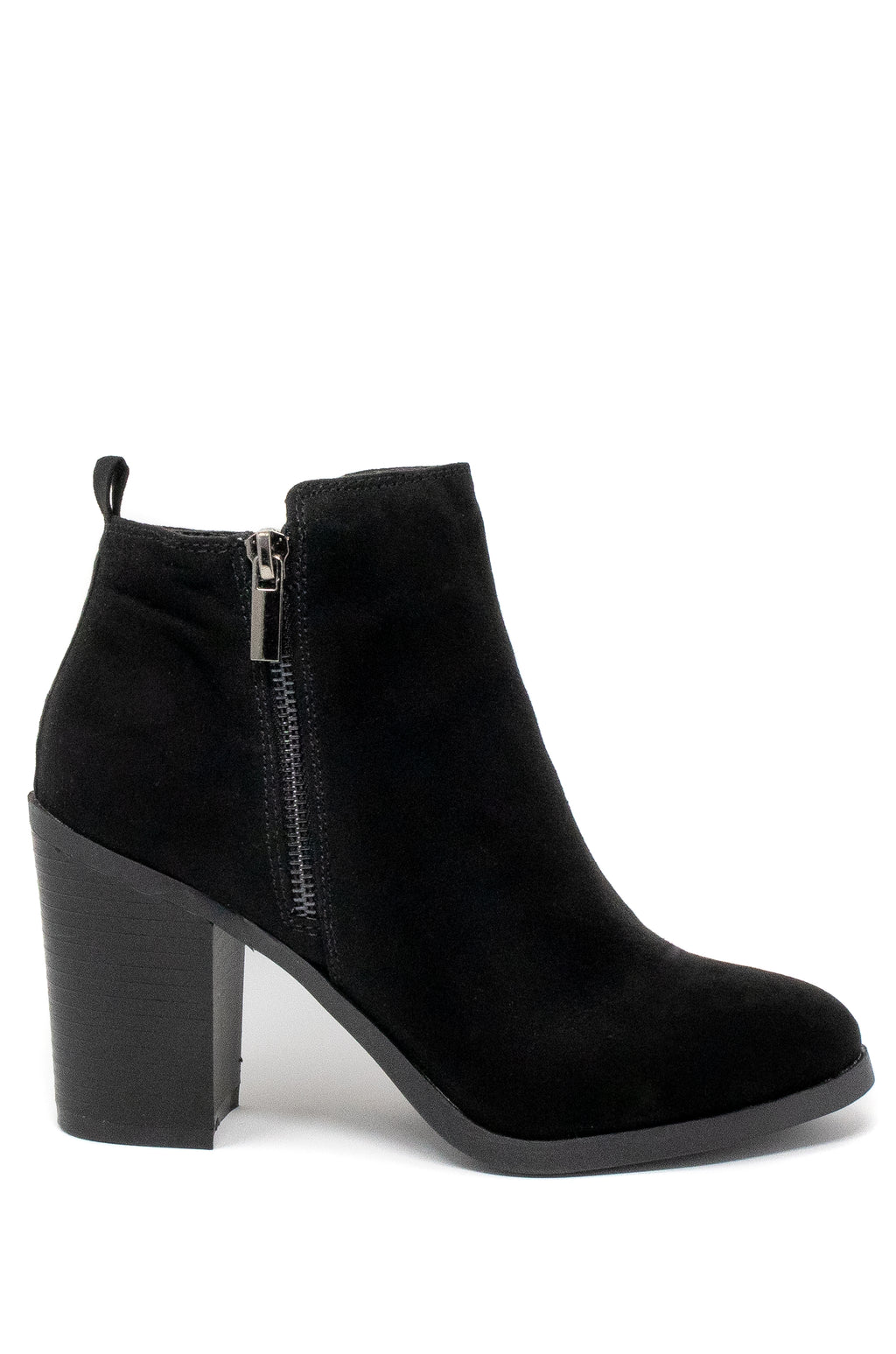 Call On Me - Black Almond Toe Booties