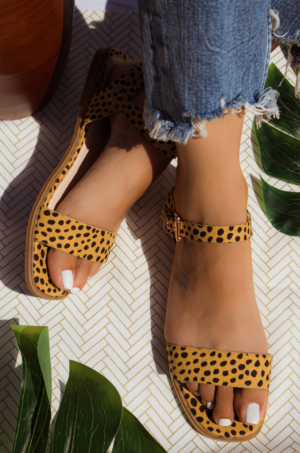 Caribbean Goddess - Cheetah Sandals
