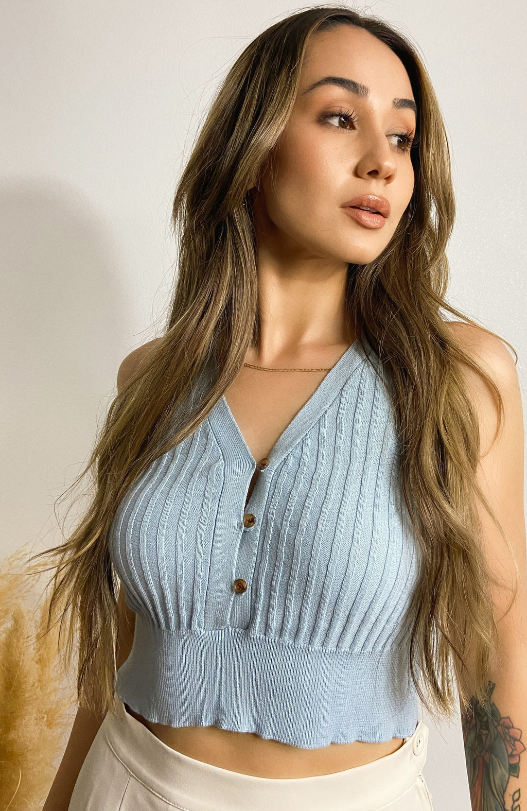 Casa Blanca - Light Blue Top