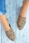 Casual Fling - Tan Leopard Asymmetrical Cut Flats
