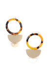 Center Of Attention - Tortoise Shell Earrings
