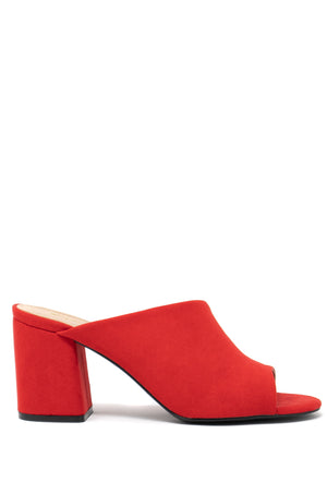 Cherry On Top - Red Low Block Mules