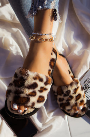 Cloud Nine - Leopard Slippers