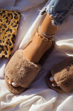 Cloud Nine - Taupe Slippers