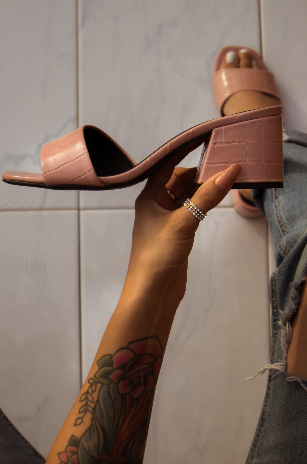 Destiny - Blush Mules