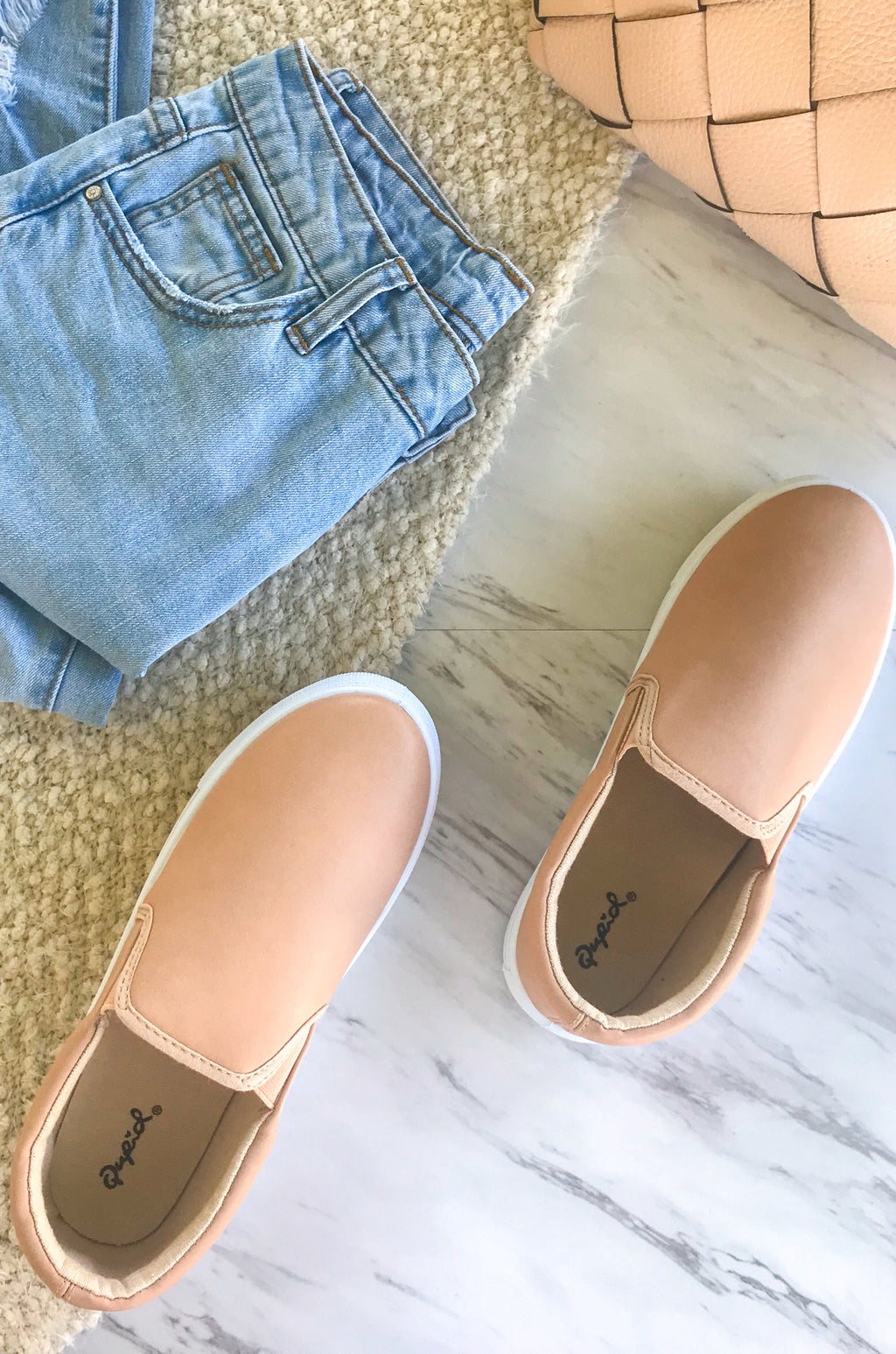 Day Trip - Nude Slip On Sneakers