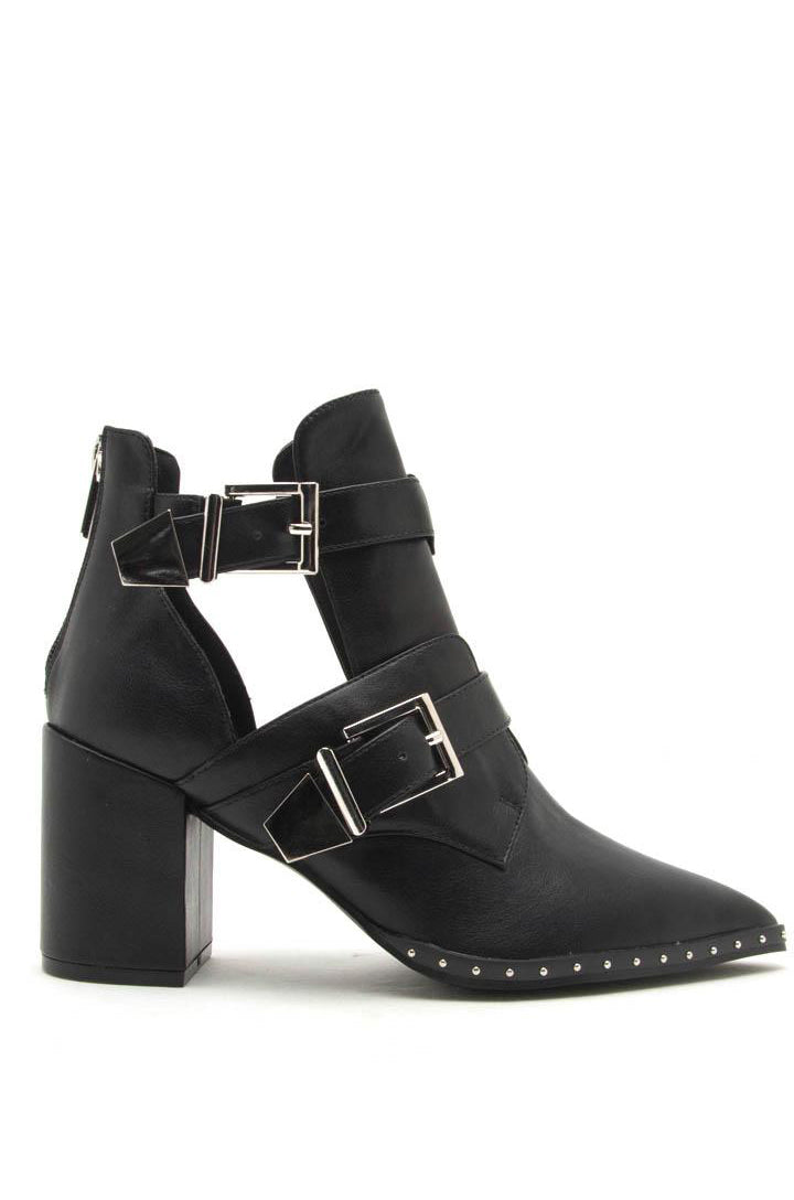 Desert Flame - Black Double Buckle Booties