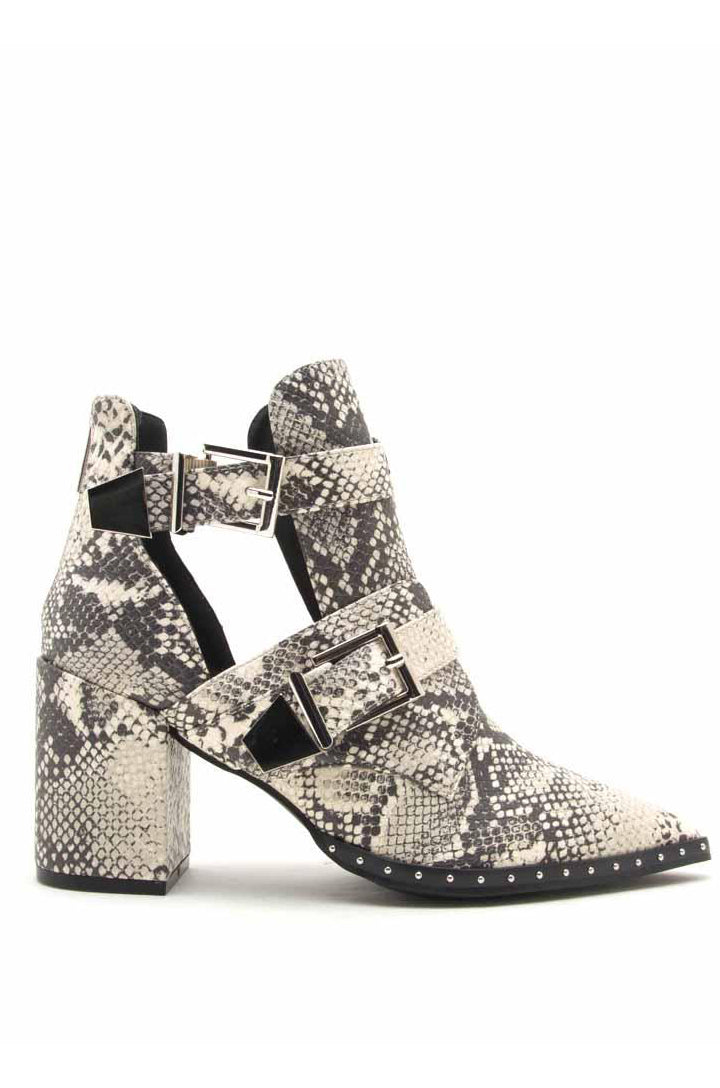 Desert Flame - Stone Snake Double Buckle Booties