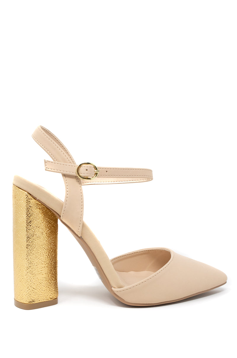 Divinity - Nude Block Heel Pumps