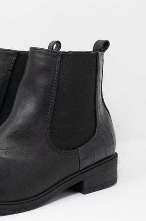 Double Take - Black Chelsea Booties