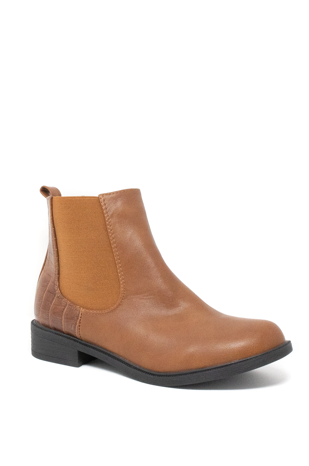 Double Take - Cognac Chelsea Booties