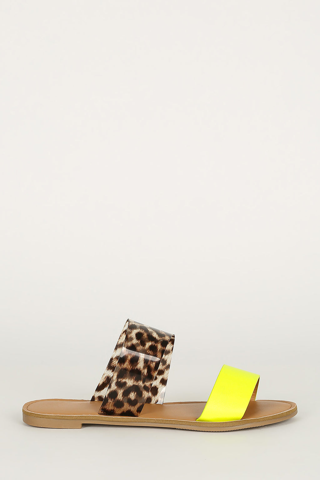 Endless Summer - Neon Yellow Leopard Sandals