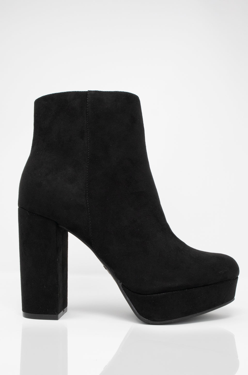 Envy - Black Platform Heeled Booties