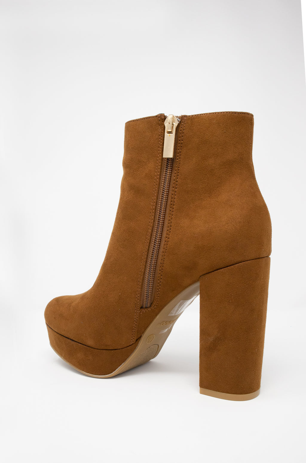 Envy - Camel Platform Heeled Booties