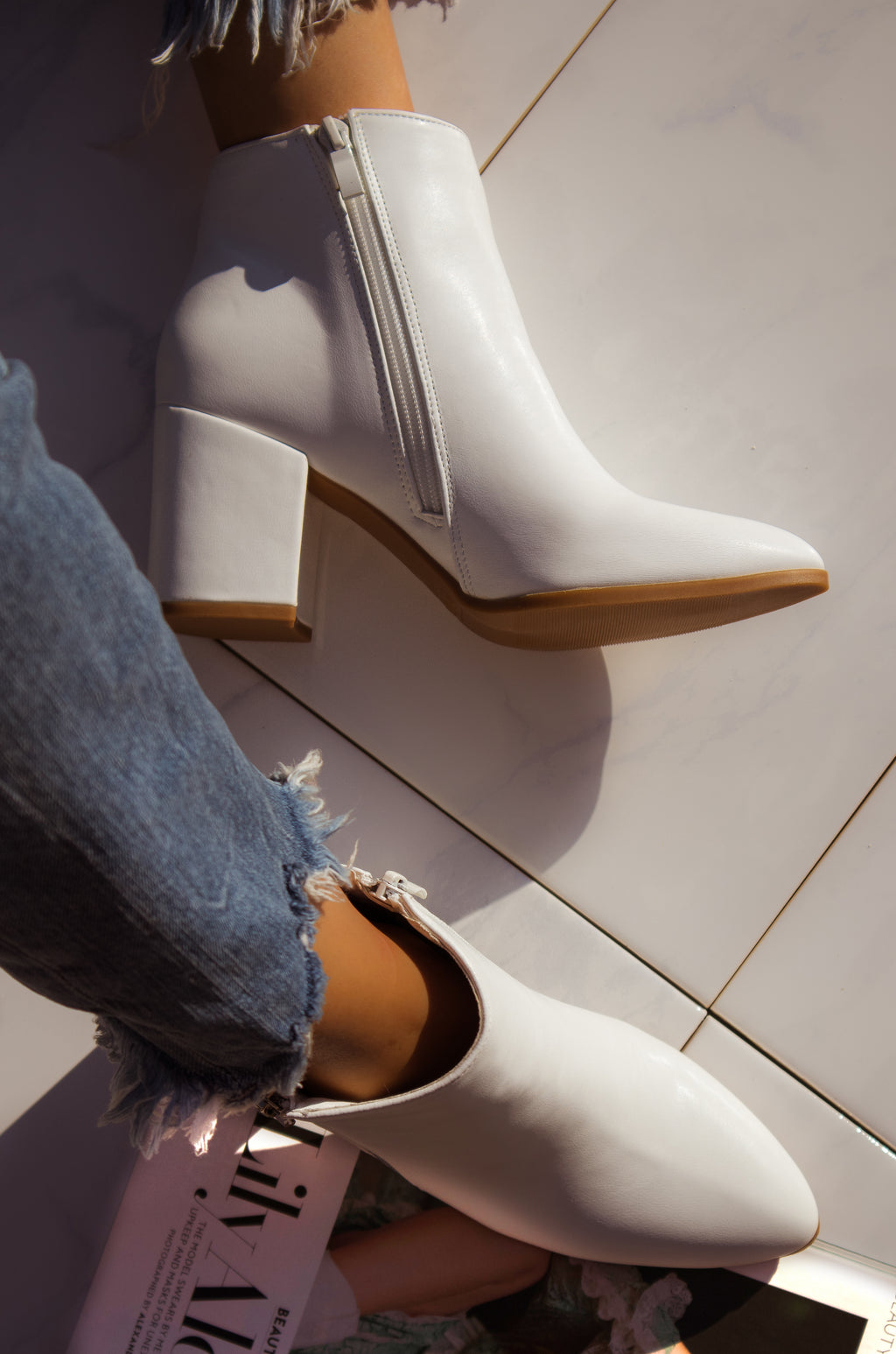 Fashion Muse - White Booties