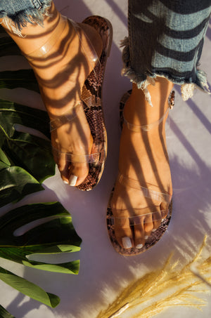 Feeling Lucky - Clear Sandals