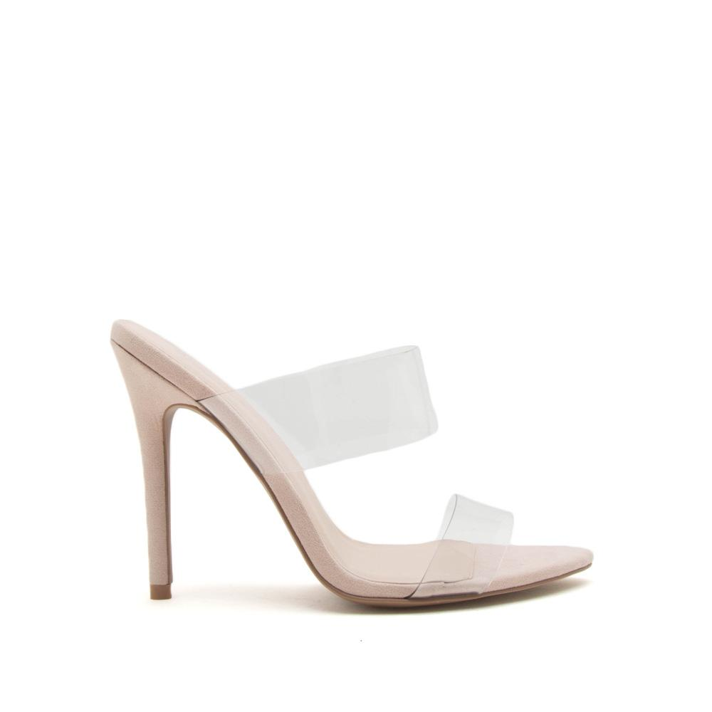 5545e0868ff Hollywood - Clear Double Band Heels
