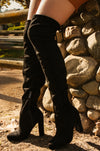 Fashion Desire - Black Over The Knee High Heel Boots
