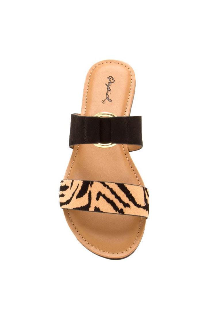 Feeling Frisky - Tiger Double Band Slides