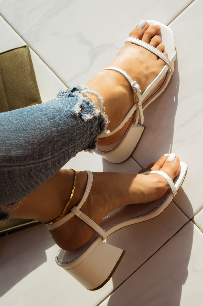 Flirty Moves - White Heels