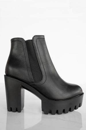 Formation - Black Lug Sole Booties