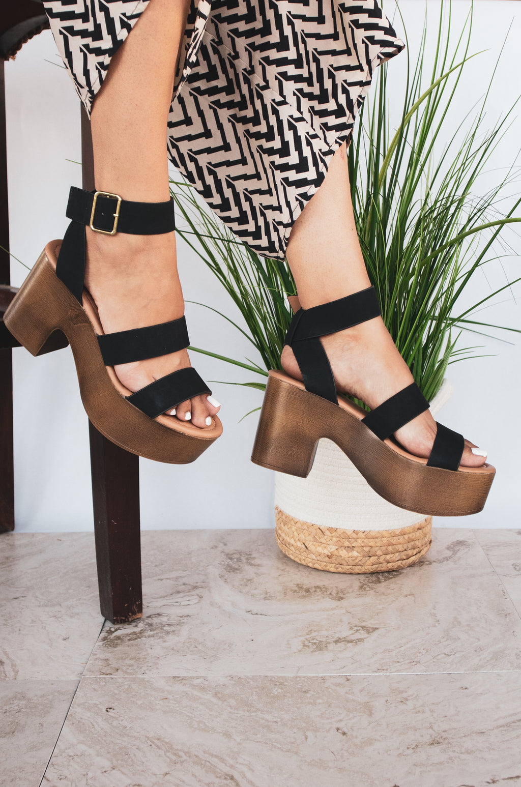 Funk You Up - Black Triple Band Sandals
