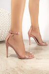 Game On - Blush Clear Band Heeled Sandals