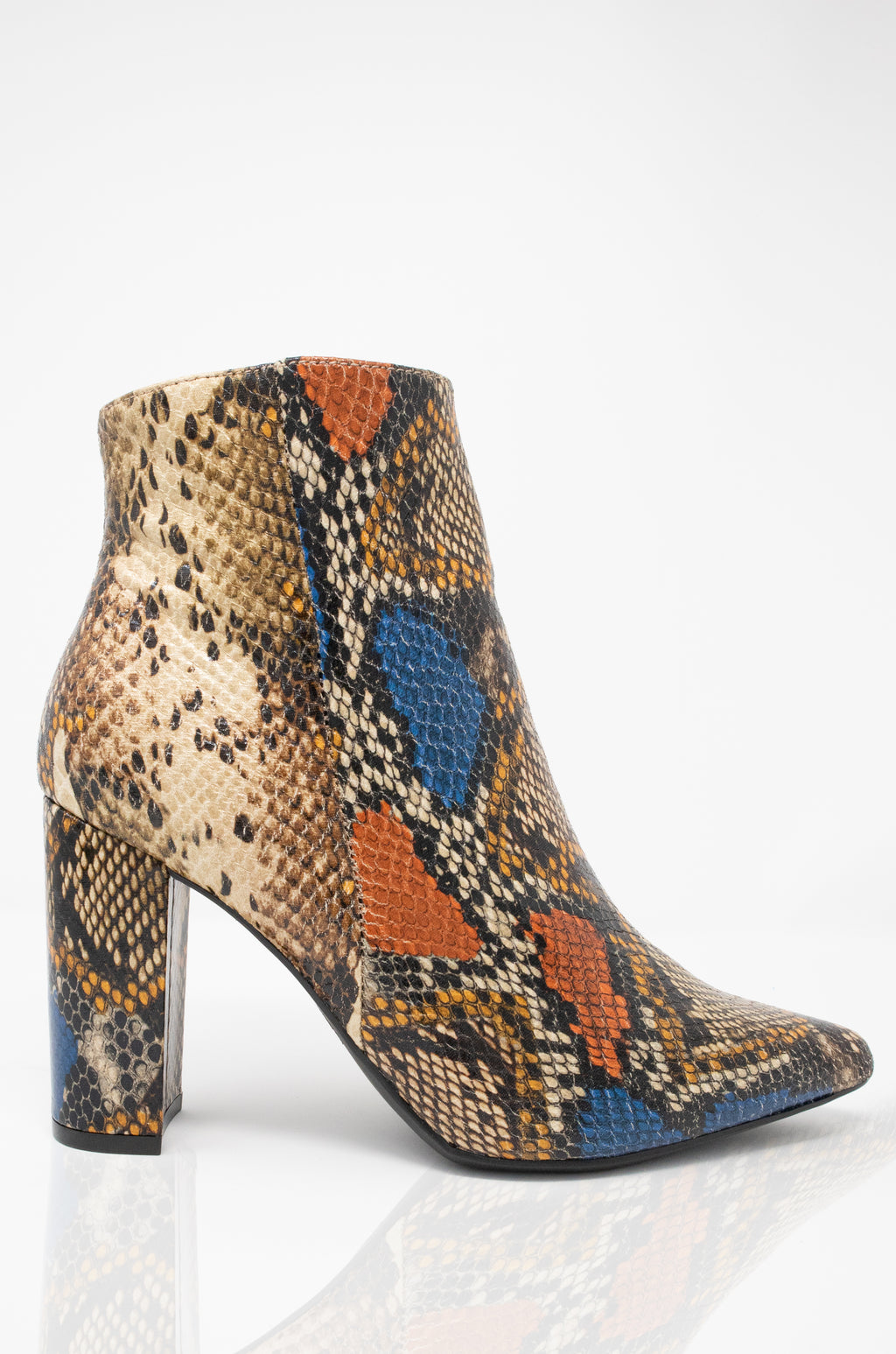 Gettin' All Dat - Multi Snake Pointy Booties