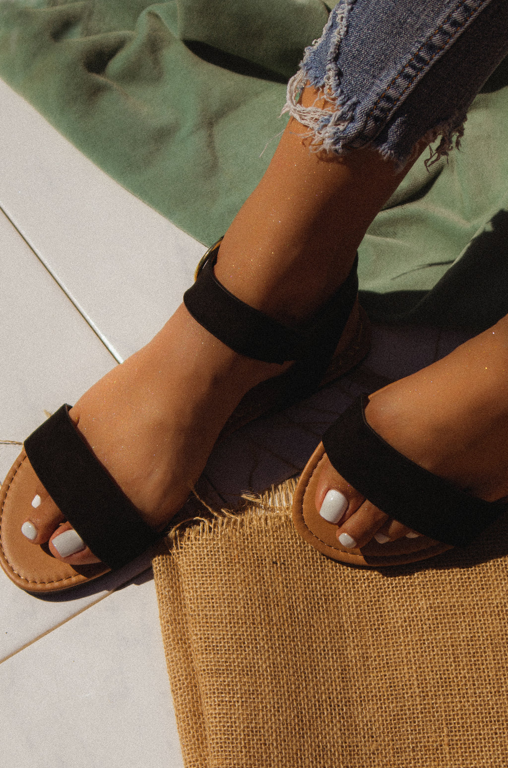Golden Summer - Black Sandals