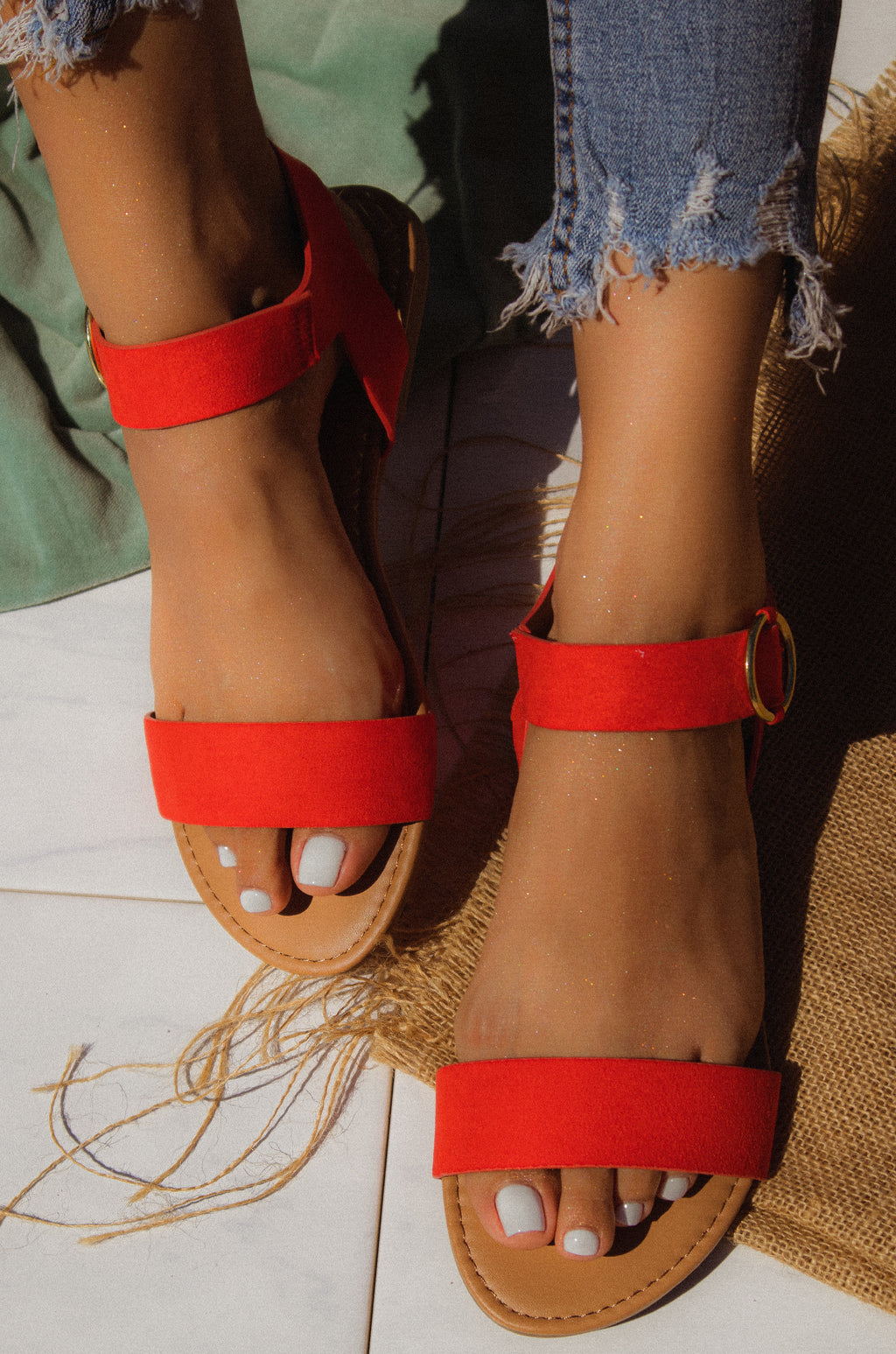 Golden Summer - Blood Orange Sandals