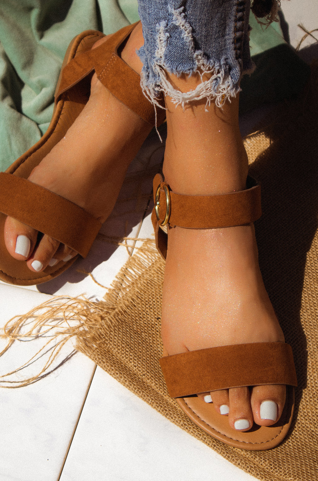 Golden Summer - Chestnut Sandals