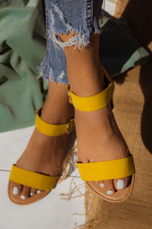 Golden Summer - Yellow Sandals