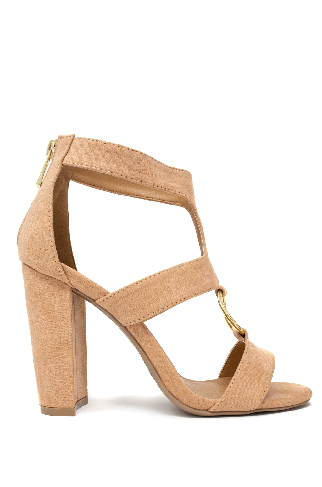Good Girl - Blush Cutout Block Heels