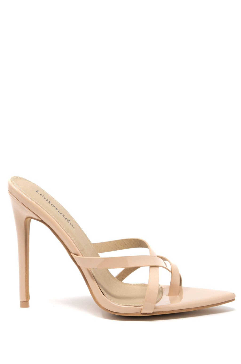 Good Times Only - Nude Strappy Stiletto Mules