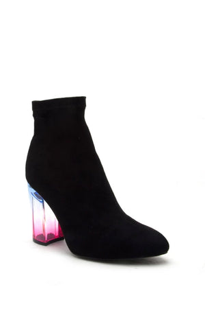 Haute Desire - Black Perspex Sock Booties