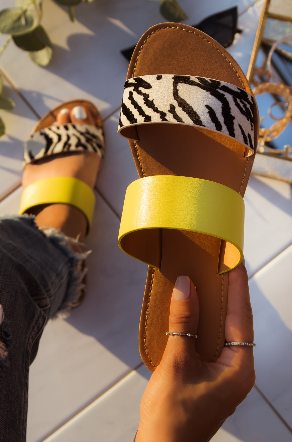 Havana Nights - Zebra Sandals