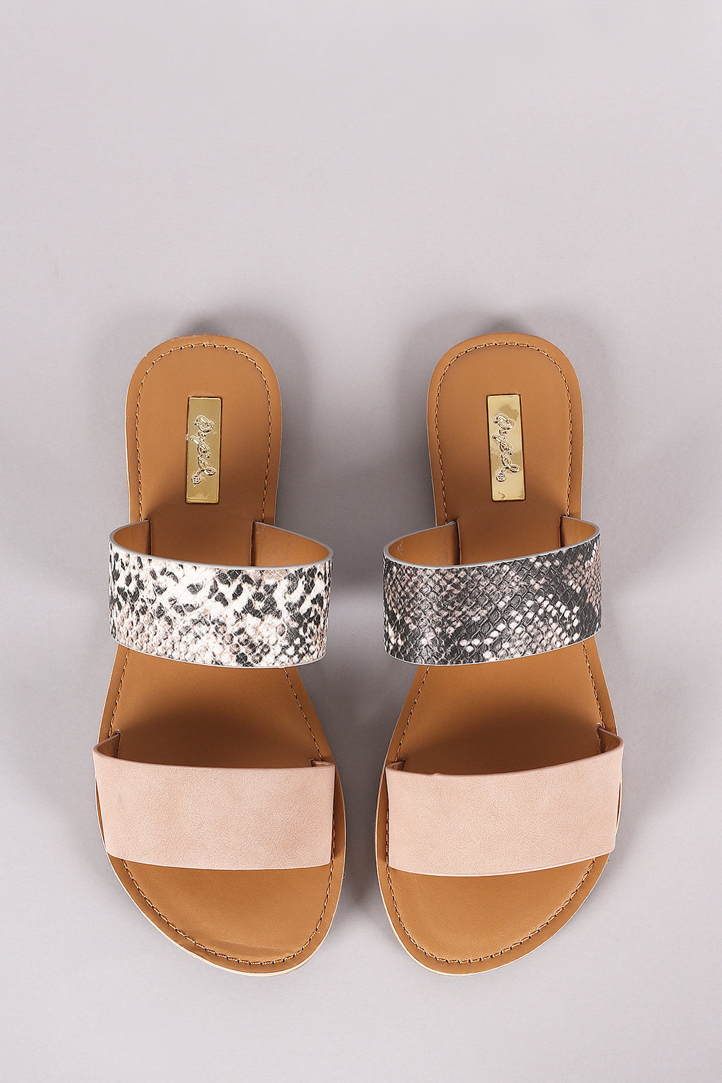 Havana Nights - Blush Snake Two Band Sandals