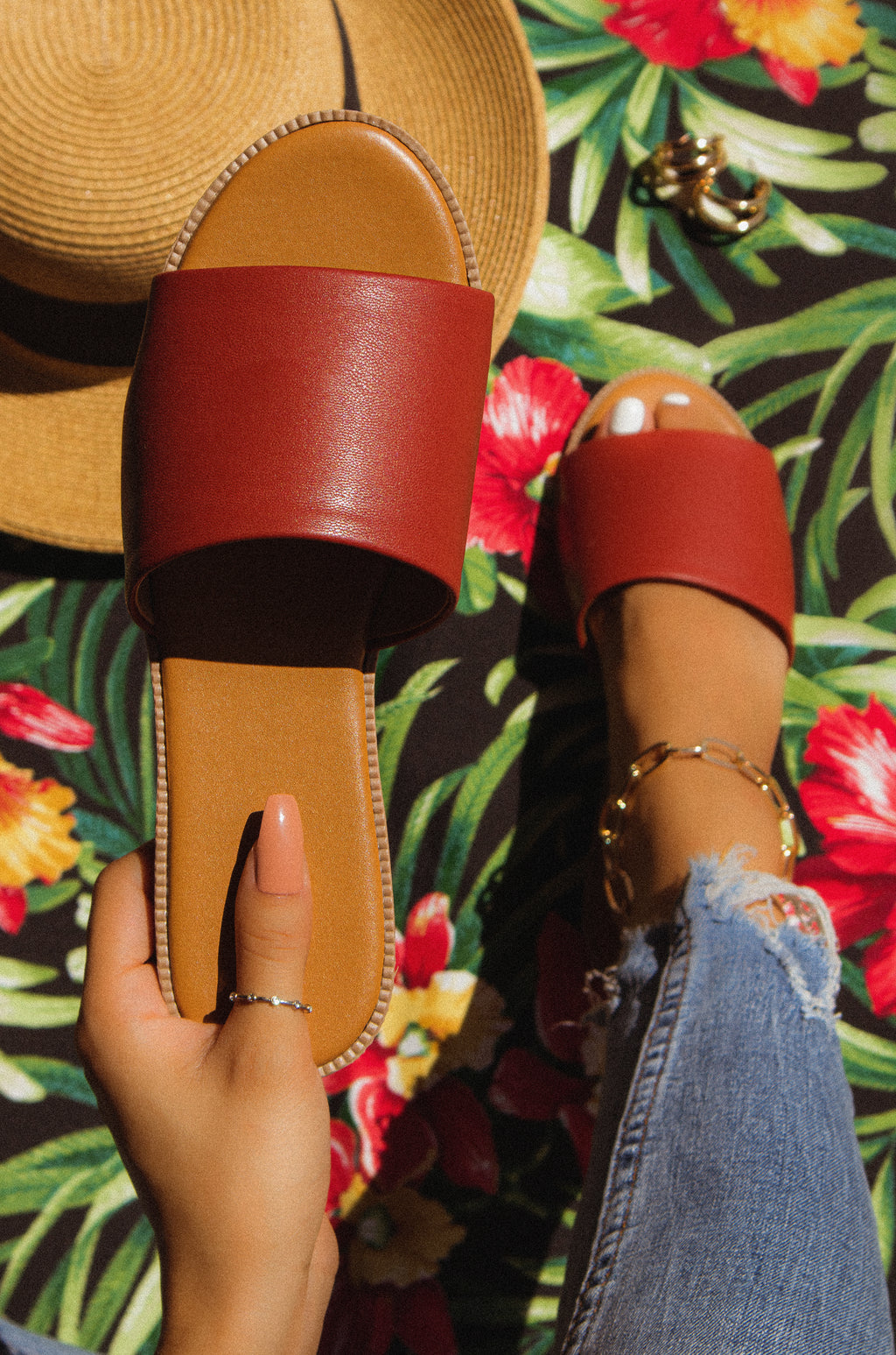 Heat Wave - Brick Sandals