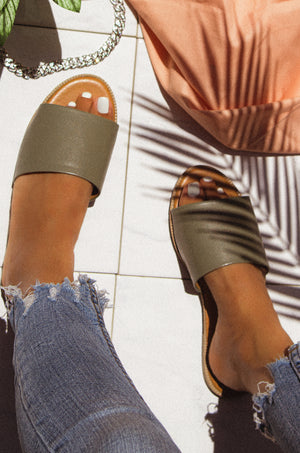 Heat Wave - Khaki Sandals