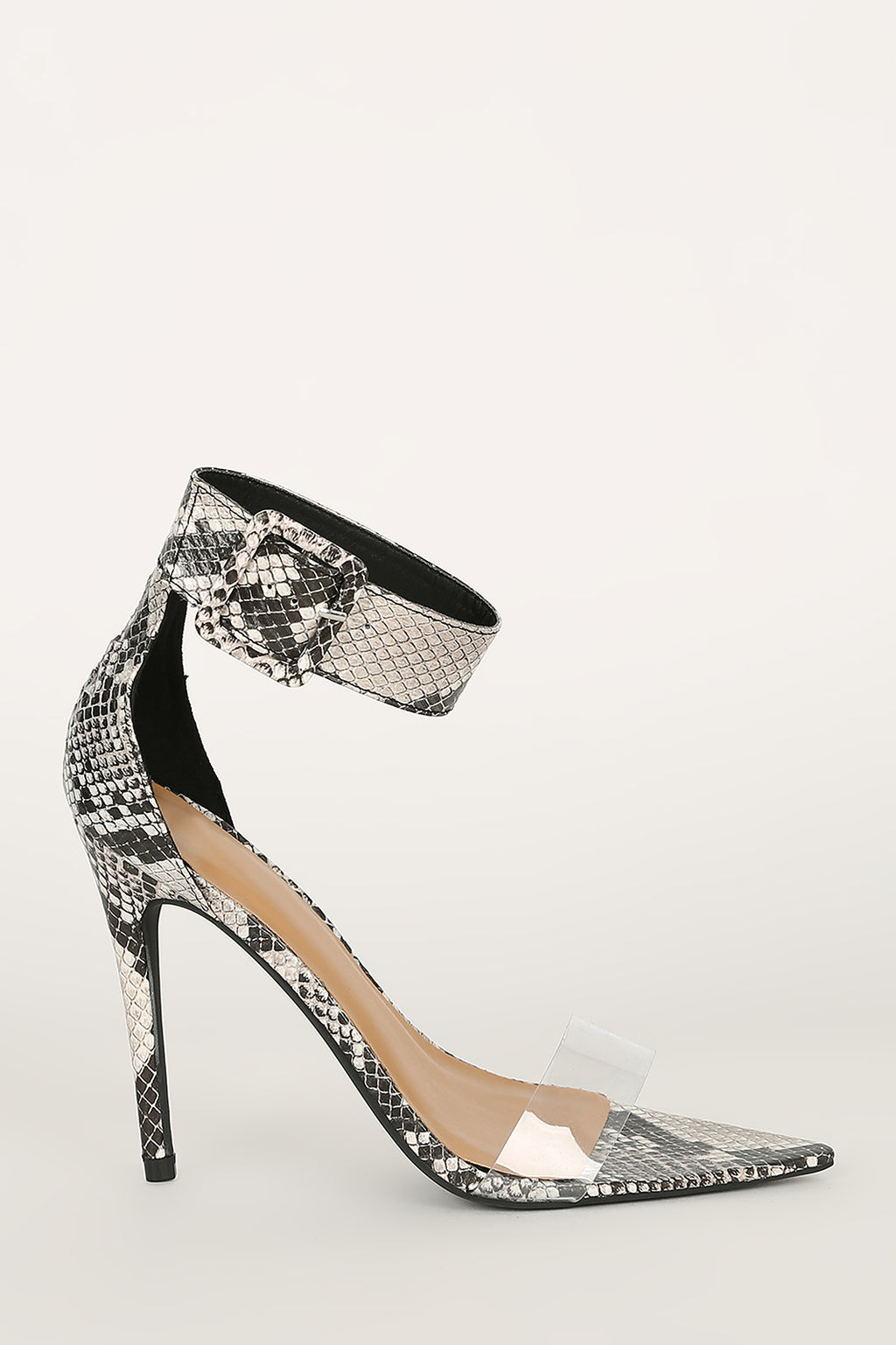 High Power - Black Snake Heels