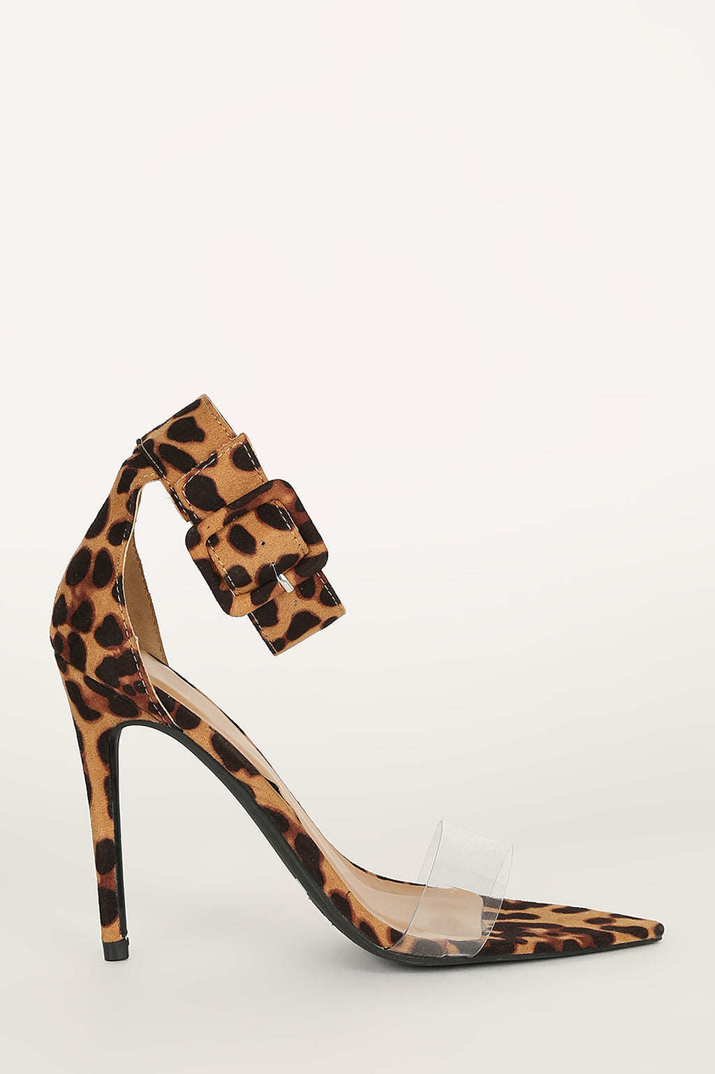 High Power - Brown Leopard Heels