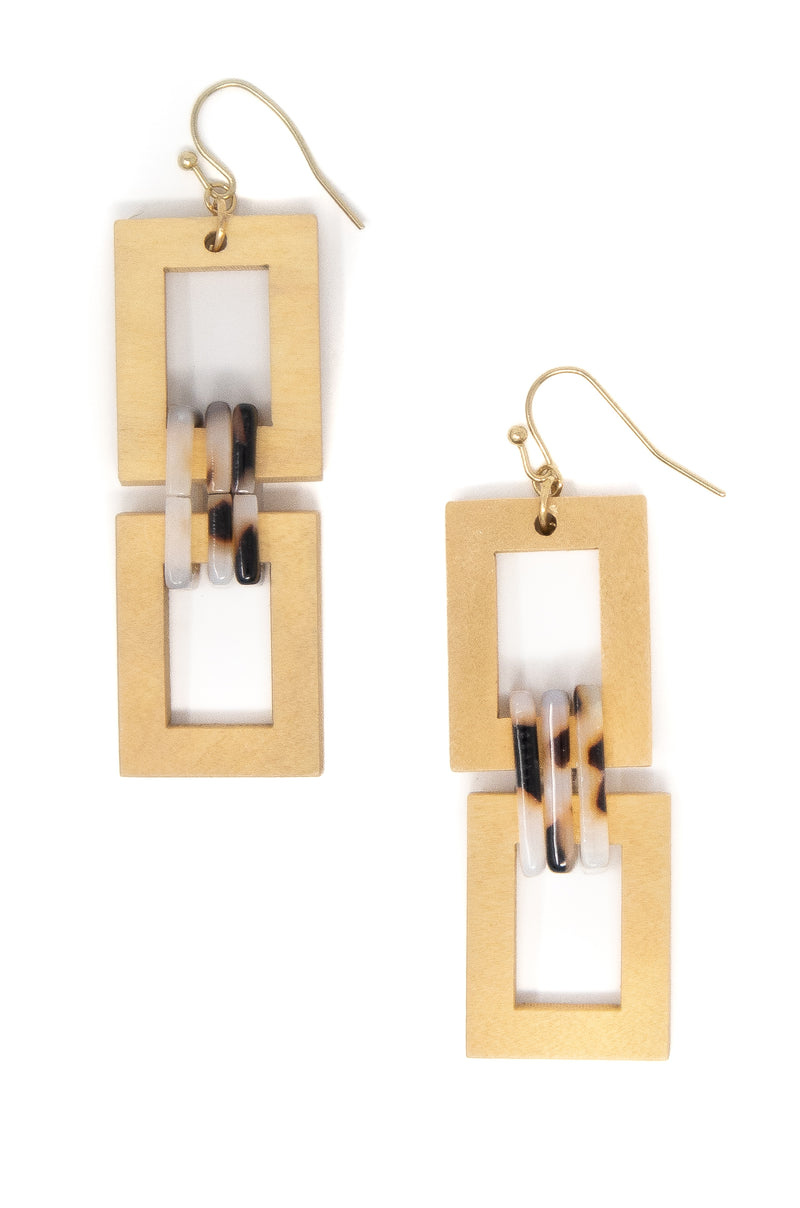 Hold Me Close - Ivory Wooden Earrings