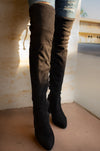 Hot Gossip - Over The Knee Mid Heel Boots